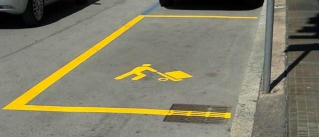parcheggio carico e scarico