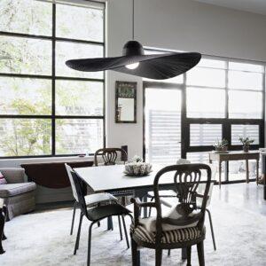 lampadario moderno nero